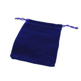 Velvet bag / 10x12cm / navy / 5pcs
