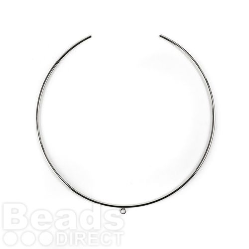 Silver Plated Choker Base with Centre Loop 2mmx130mm Pk1