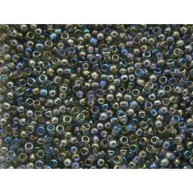 TOHO™ / Round 11/0 / Transparent-Rainbow / grey / 10g / ~ 1100pcs
