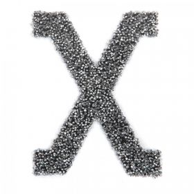 Swarovski Crystal Letter 'X' Self-Adhesive Fabric-It Black CAL Pk1