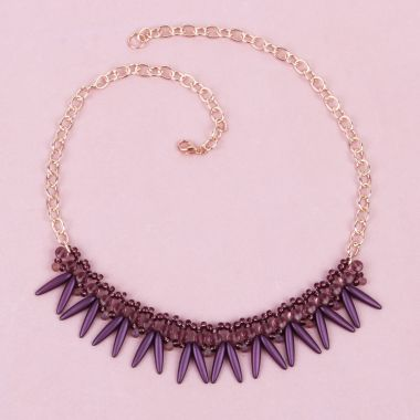 Amethyst Shaggy Necklace