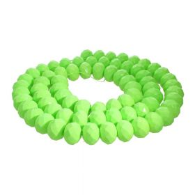 Milly™ / rondelle / 6x8mm / neon green / 70pcs