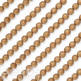 "Rosewood Round 5/6mm Natural Wood Beads 16"" Strand"