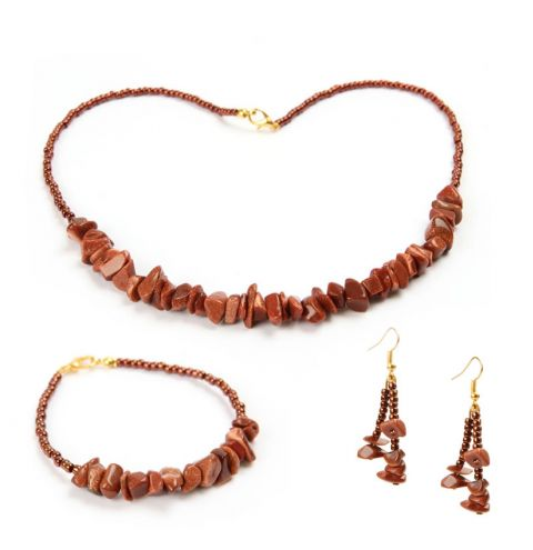 Goldstone Jewellery Set