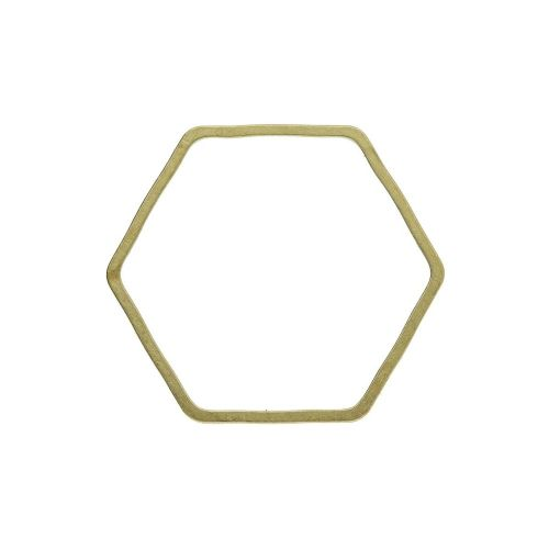 Hexagon / geometric base / brass / 18x18mm / 10pcs