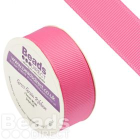 Hot Pink Grosgrain Ribbon 19mm Sold on a 5 Metre Reel