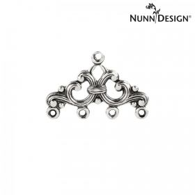 Nunn Design Antique Silver Filigree Charm 4-Loop 16x25mm Pk1