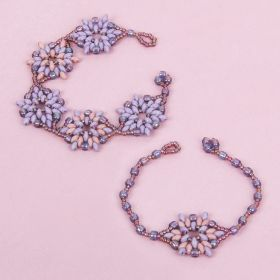 Lavender Lotus Flower Bracelet Take a Make Break Kit