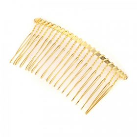 Gold Plated Wire Hair Comb 7.5cm Pack1