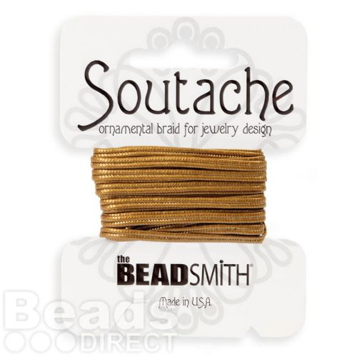 Antique Gold Rayon Soutache Cord Beadsmith 3yds