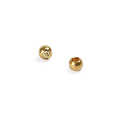 Beadalon Gold Plated Crimp Beads 1.3mm #0 Pk100