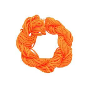 Mcord ™ / Macramé cord / nylon / 1.5mm / neon orange / 13m