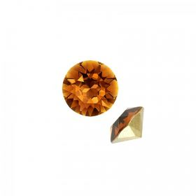 1028 Swarovski Crystal Chaton SS24 Topaz F Pack of 6