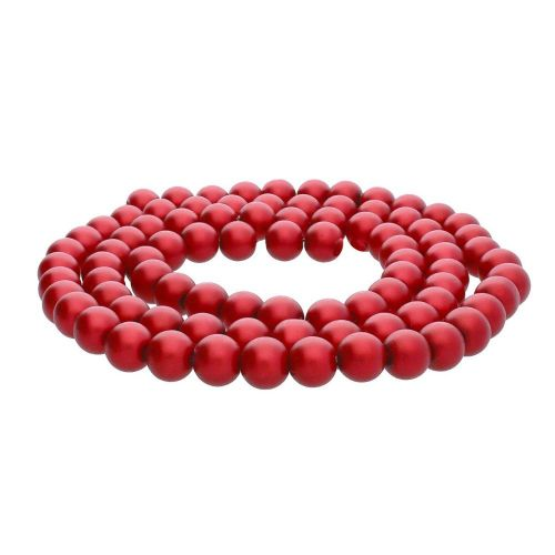 SeaStar™ satin / round / 8mm / red / 120pcs