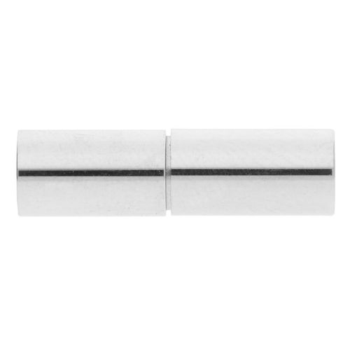 TwistOn / clasp / surgical steel / 21x6x6mm / silver / hole 5.1mm / 1pcs