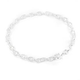 Sterling Silver 925 Oval Cable Bracelet Chain w/Clasp 4x5mm 7.5inch Pk1