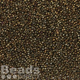 Toho Size 15 Round Seed Beads Metallic Iris Brown 10g