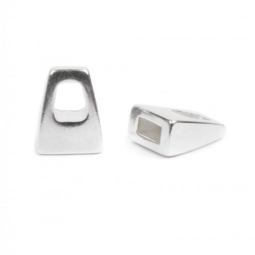 Silver Plated End Caps 9x12mm for 5mm Flat Cord Pk2