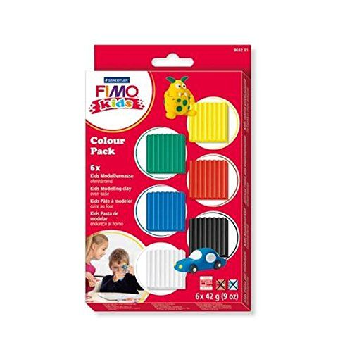 X-Staedtler Fimo Kids Basic Colour Pack 6x42g(1.5oz); 252g(9oz)