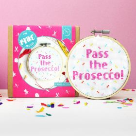 The Make Arcade Cross Stitch Pass the Prosecco Kit