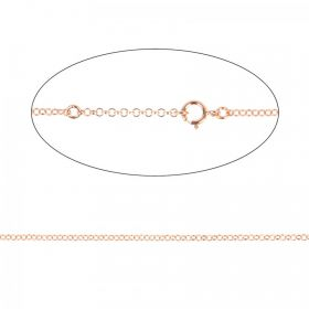 Rose Gold Plated Sterling Silver 925 Necklace Chain w/Clasp Adjust 40-46cm