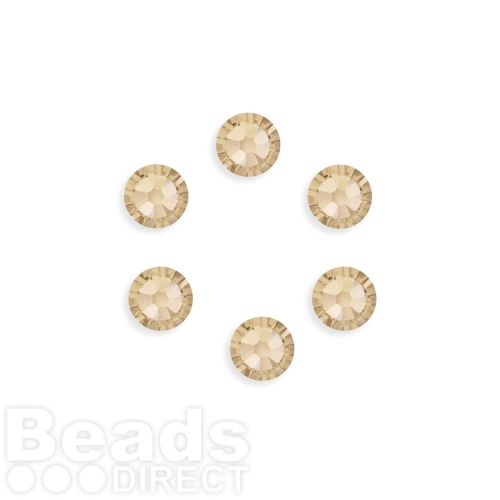 """X"" 2088 Swarovski Crystal Flat Backs SS34 7mm Light Silk F Pk6"