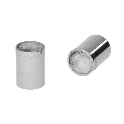Magnetic clasp / copper / cylindrical / 21x9x9mm / silver / hole 8mm / 1pcs