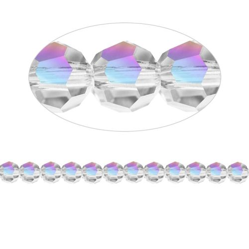 5000 Swarovski Crystal Faceted Rounds 6mm Crystal AB Pk12