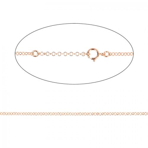 X Rose Gold Plated Sterling Silver 925 Necklace Chain w/Clasp Adjust 40-46cm