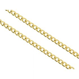 Curb chain / surgical steel / 5x3.5mm / gold / link 1mm / 1m