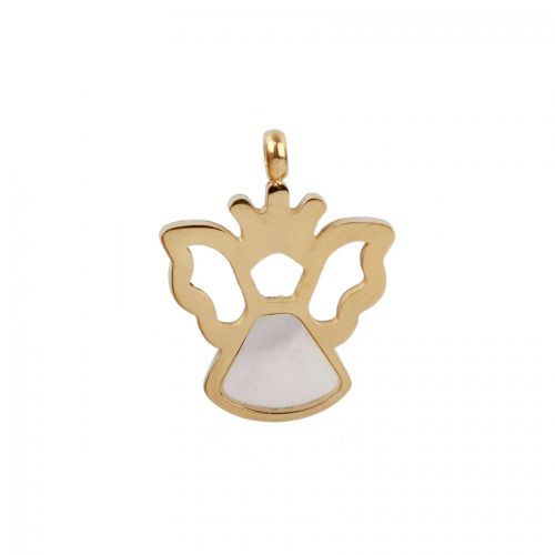 Gold Plated Hollow Angel Charm 14x18mm Pk1