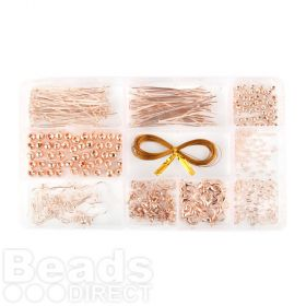 Rose Gold Plated Findings Kit 10 Styles Includes Box