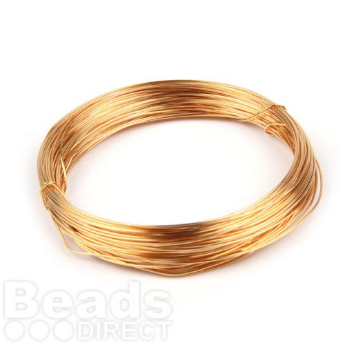 Gold Plated Copper Wire 0.6mm 10metre Coil