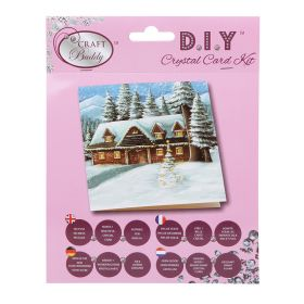 Beads Direct 'Christmas Cottage' Crystal Card Kit