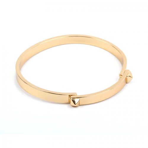 Gold Plated Brass Bangle Base with Studs 5x58mm Pk1