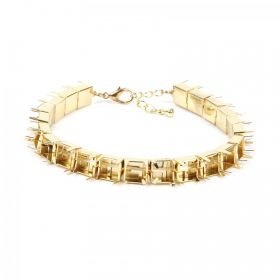 """Gold Plated Cupchain SS39 Bracelet Base with Clasp & 8"""" Extension Chain Pk1"""