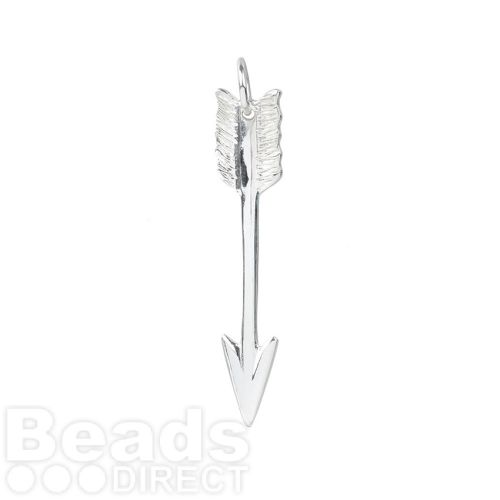 Sterling Silver 925 Large Arrow Charm 6.5x39mm Pk1