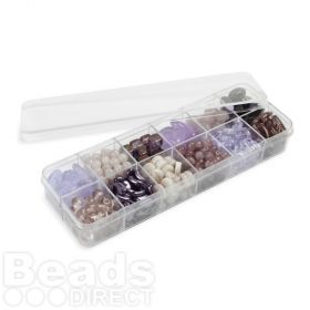 Preciosa Czech Glass Bead Assortment Luscious Lilac