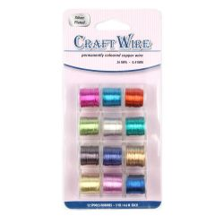 Assorted Coloured Copper Wires 0.8mm 20awg 12 Reels 32 Metres