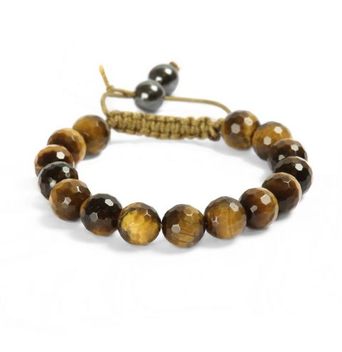 Tiger Eye Macramé Bracelet