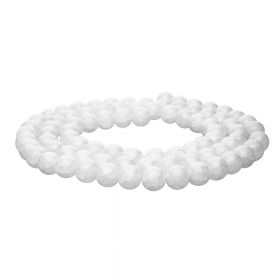 Mistic™ / round / 8mm / white / 100pcs