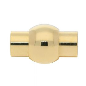 Magnetic clasp / surgical steel / cylindrical with ball / 18x10.5x10.5mm / gold / hole 6mm / 1pcs
