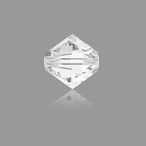 5328 Swarovski Crystal Bicones Xillion 4mm Crystal Clear Pk24