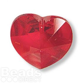 6228 Swarovski Crystal Heart 17.5x18mm Siam Pk1