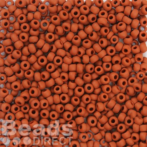 Toho Size 6 Round Seed Beads Opaque Frosted Terracotta Matte 10g
