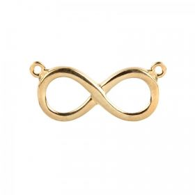 Gold Plated Sterling Silver 925 Infinity Charm Connector 12x21mm Pk1