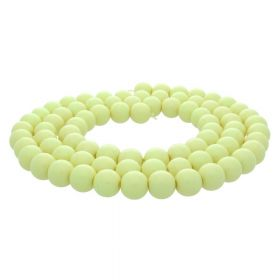 Milly™ / satin round / 12mm / dark vanilla / 70pcs