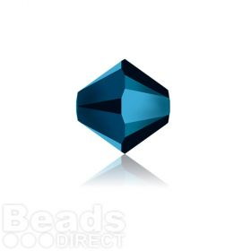 5328 Swarovski Crystal Bicones 4mm Crystal Metallic Blue 2x Pk1440