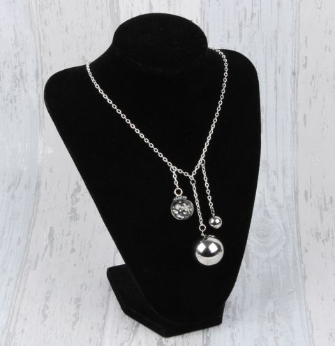 Monochrome Bauble Necklace