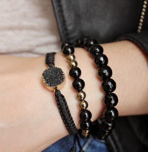 How to make a macrame connector bracelet - jewellery tutorial